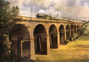 Wharncliffe Viaduct, by J.W. Petrie