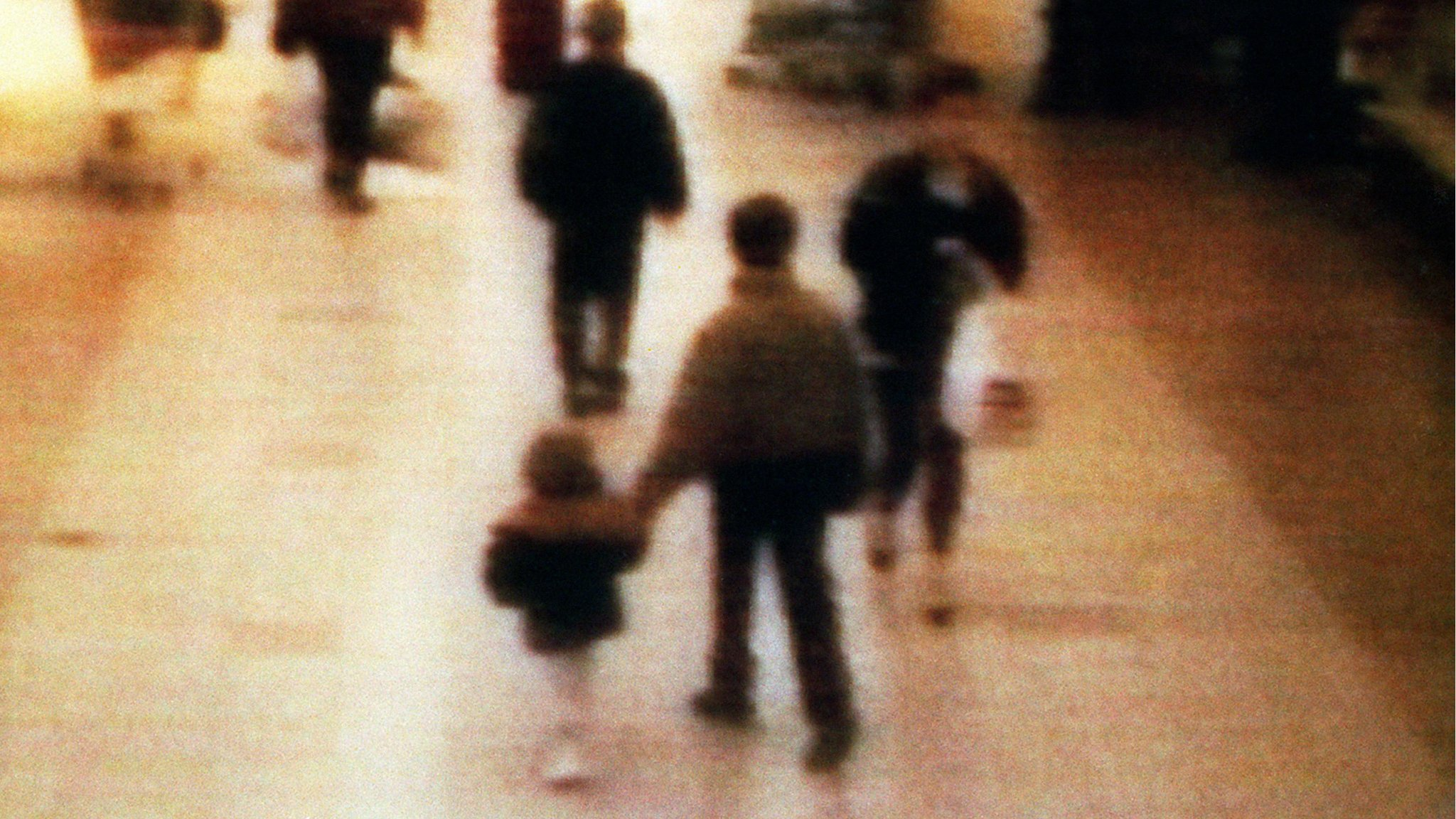 CCTV footage showed Bulger being led away