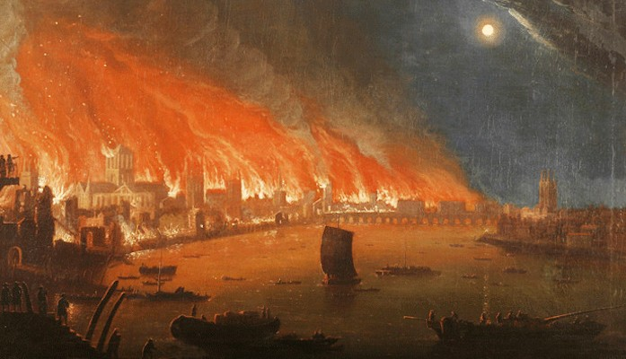 The Great Fire of London lasted 4 days