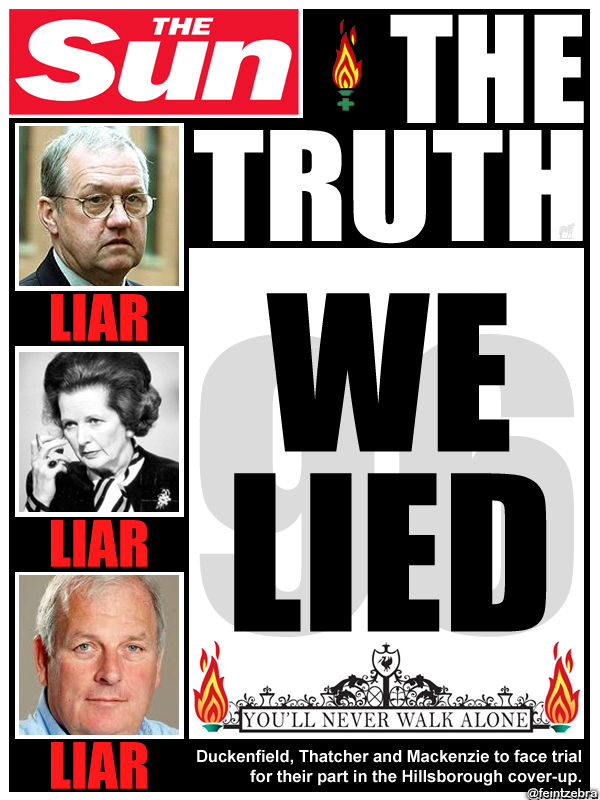 An investigation found the police, government and media had lied about the cause of the disaster