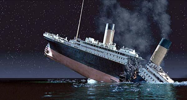 The Titanic sank in waters near Canada