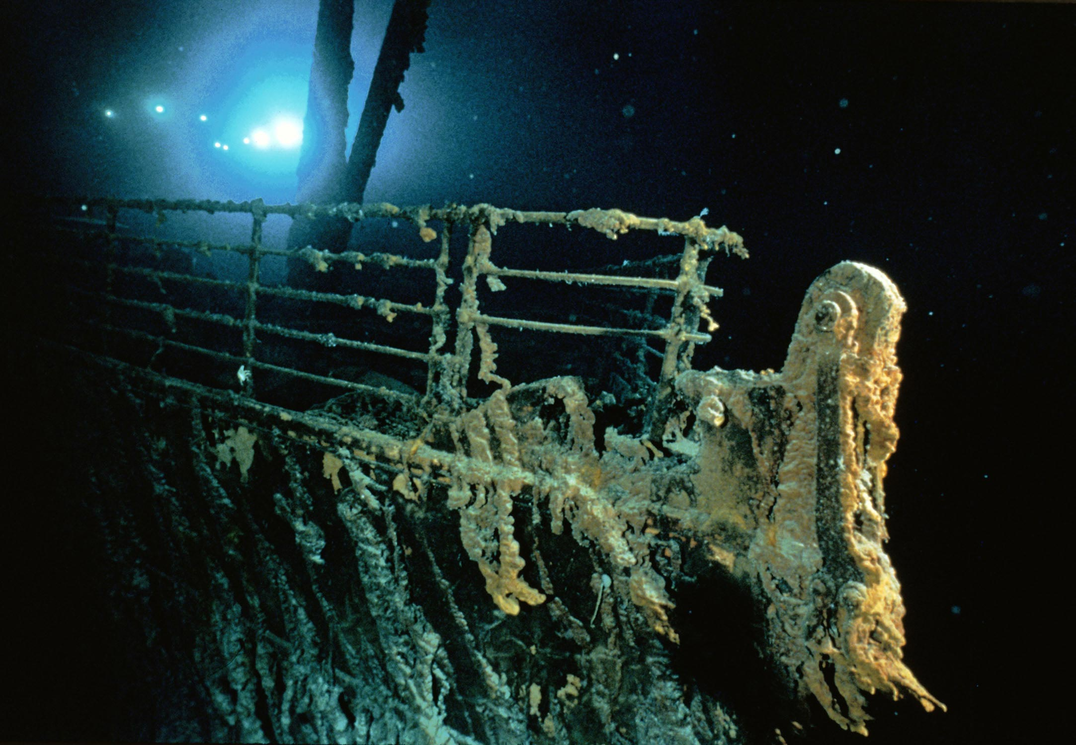 The wreck of the Titanic remains at the bottom of the Atlantic