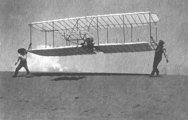 The Wright Brothers' design built on ideas from gliders