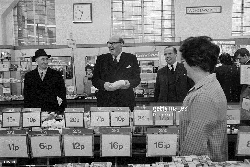Both old and new prices were shown in shops for around two years