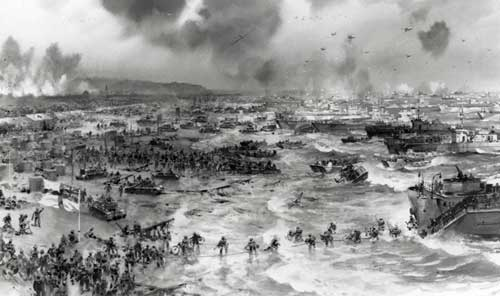 D-Day was the beginning of the push back on the western front