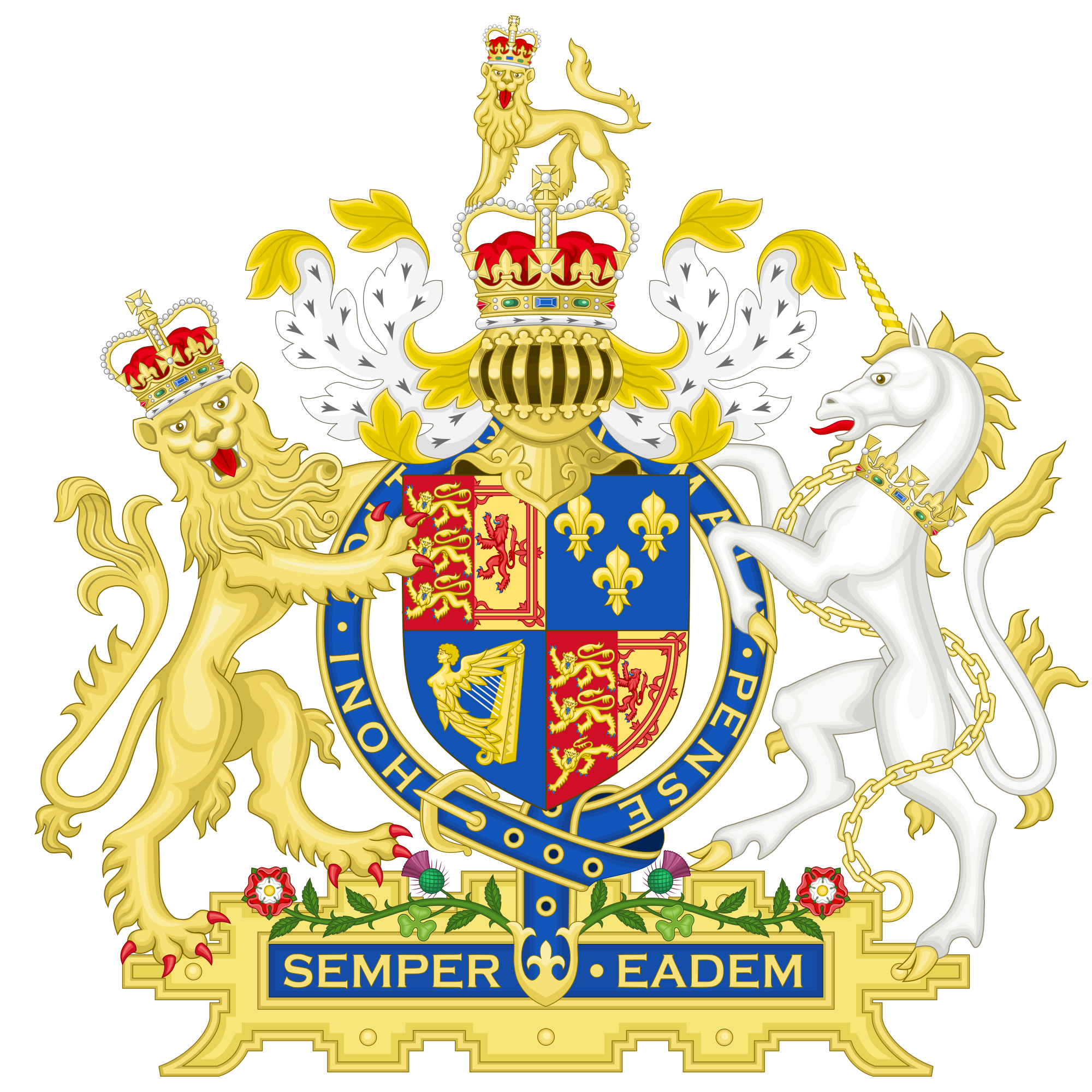 The crest of the House of Stuart