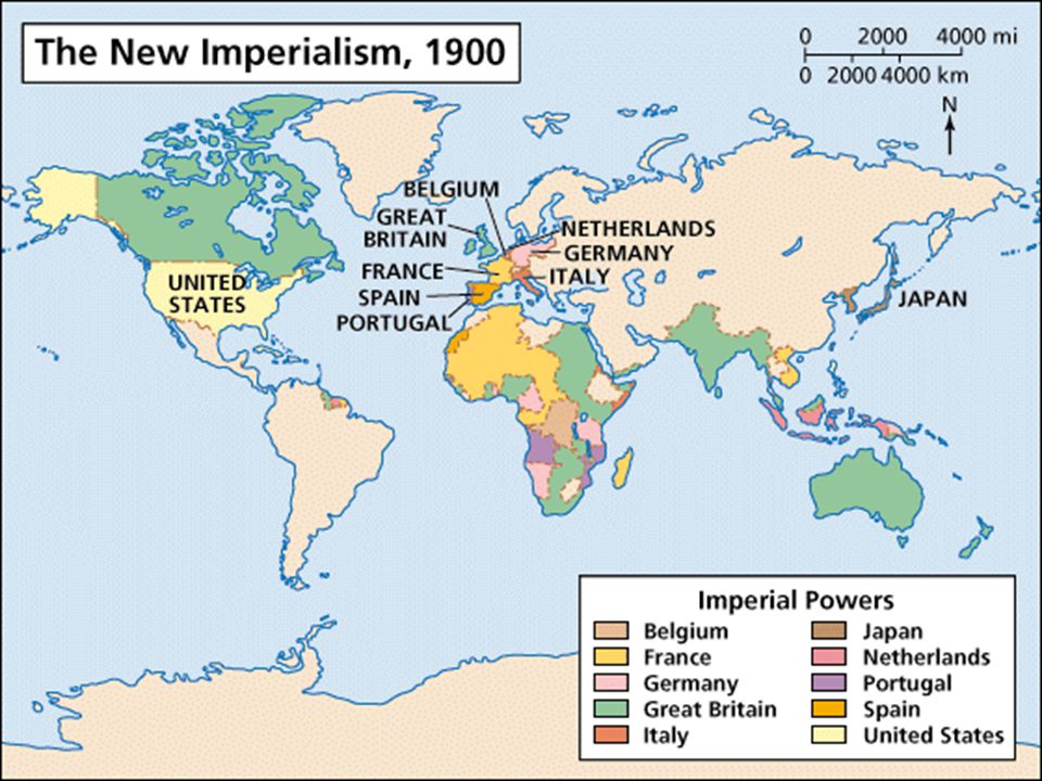 In the early 20th century European powers held empires across large portions of the world