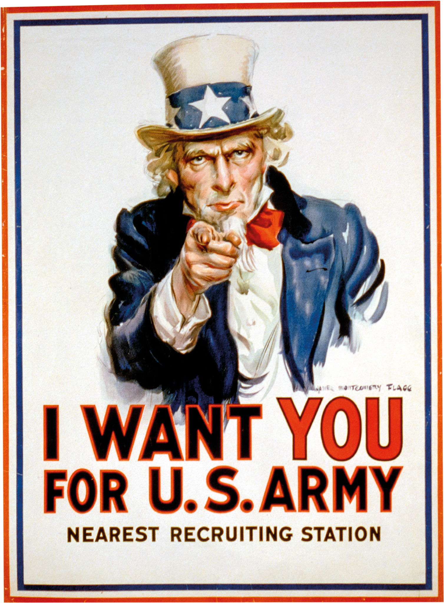 The famous 'I Want You' recruitment poster encouraged Americans to join the effort