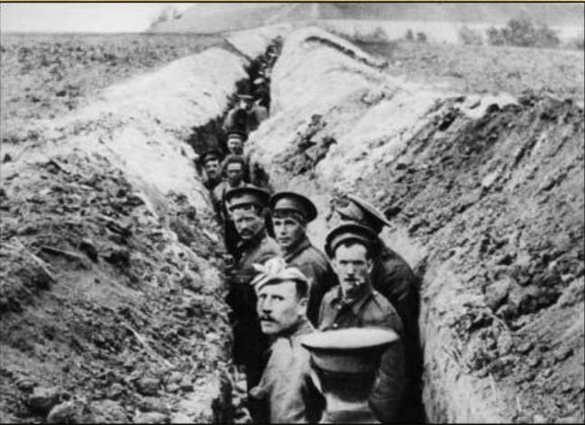 Life in the trenches was cramped and tough