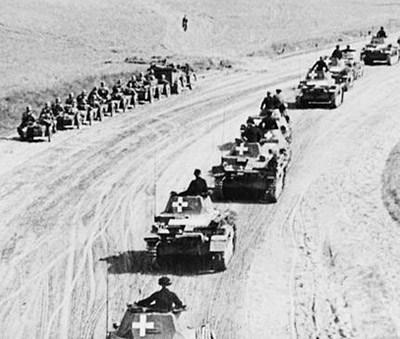 German tanks moved into Poland on September 1st 1939