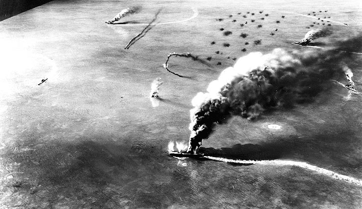 The Battle of Midway saw Japan start to lose control over the Pacific