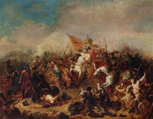 The Battle of Hastings in 1066, by Francois Hippolyte Debon