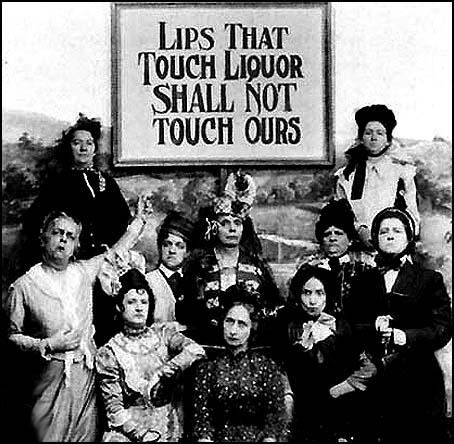 Temperance movements and World War I combined to bring in prohibition