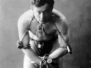 Harry Houdini before an Escape