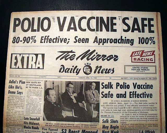News that the vaccine worked made the front pages