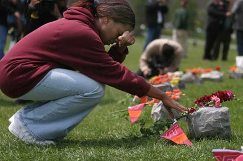 The shooting at Virginia Tech killed 32 students and teachers