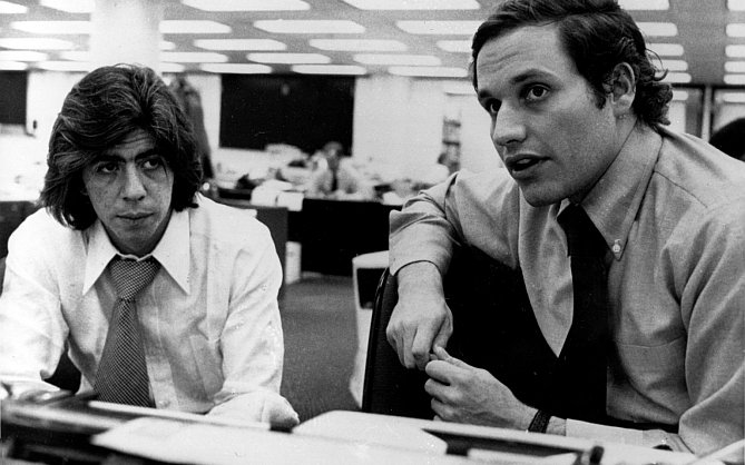 Journalists Carl Bernstein and Bob Woodward helped bring down a President