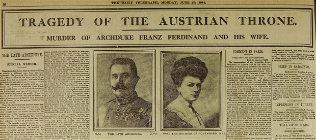 The assassination of the future Austria-Hungary king started a domino effect as alliances went to war