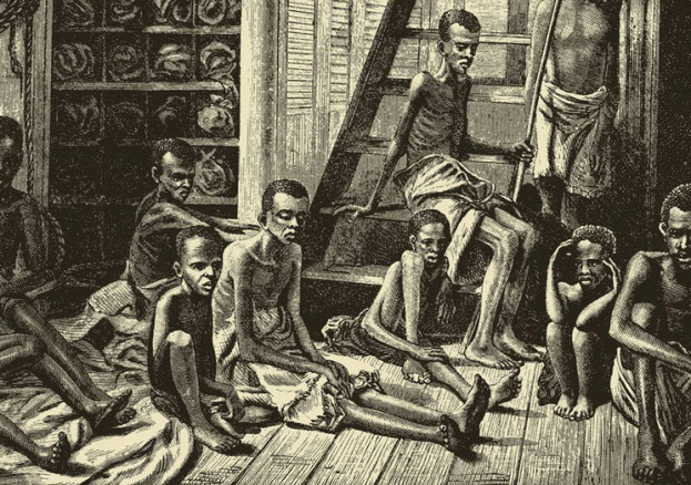 Conditions on slave ships were terrible, and many died at sea